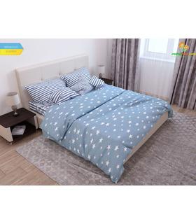 Комплект постельного белья Небесная лазурь ᗍ бязь, Украина, цена, натуральная ткань