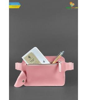 Шкіряна сумка на пояс DropBag mini PN Рожевий Персик ᐉ Україна, HandMade, натуральна шкіра