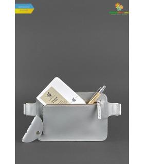 Шкіряна сумка на пояс DropBag mini GR Сіра ᐉ Україна, HandMade, натуральна шкіра