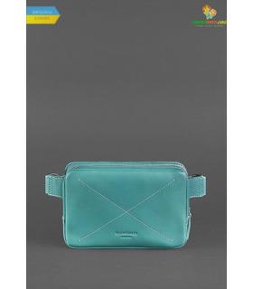 Кожаная сумка на пояс DropBag mini TF Бирюзовая ᐉ Украины, HandMade, натуральная кожа