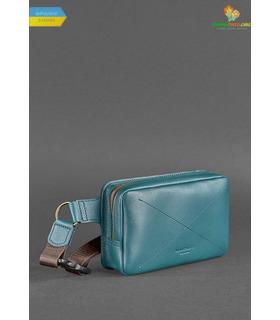 Шкіряна сумка на пояс DropBag mini ML Зелена ᐉ Україна, HandMade, натуральна шкіра