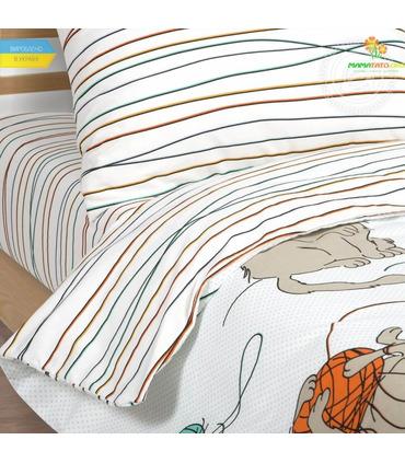 """Комплект детского постельного белья """"Мягкие лапки"""" ᐉ Поплин, произведено в Украине"""