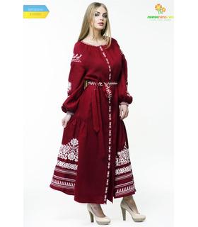 Вишита лляна сукня мод.0026