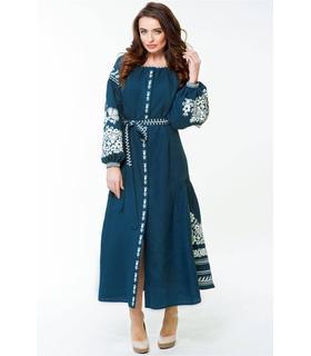 Вишита лляна сукня мод.0025