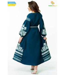 Вишитое льняное платье  мод.0025