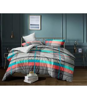 Комплект постельного белья Рикки ᗍ сатин ※ Украина, натуральная ткань