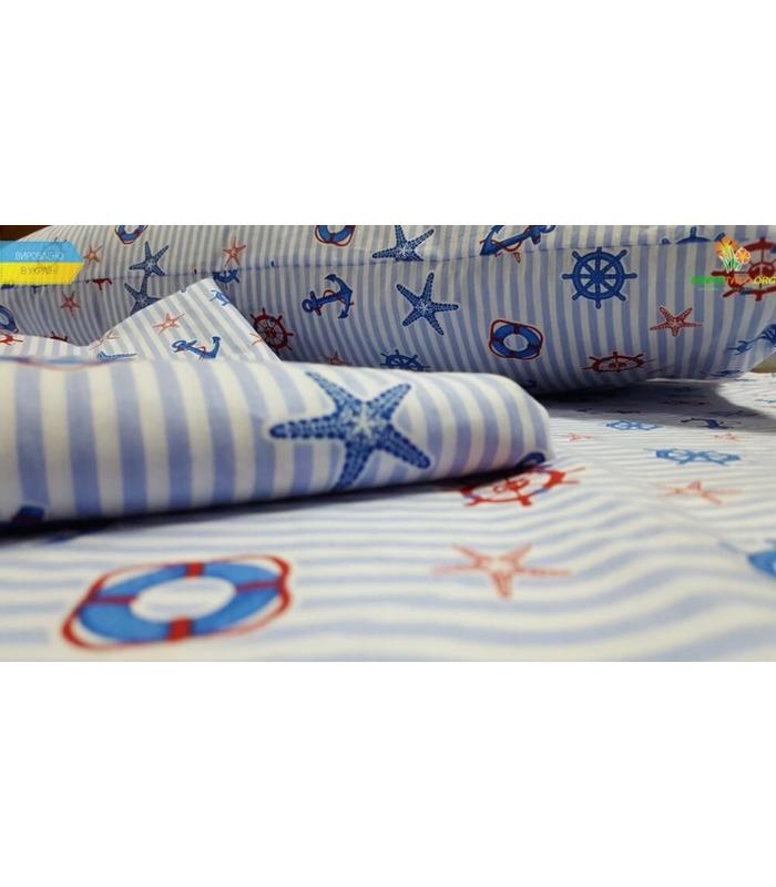 """Комплект дитячої постільної білизни """"Круїз"""" ᐉ Поплін, вироблено в Україні"""