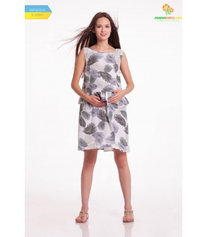 Платье Чили Мини Листья