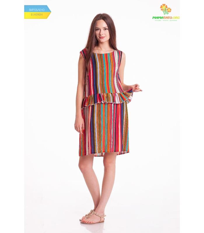 Платье Чили Мини Полоска