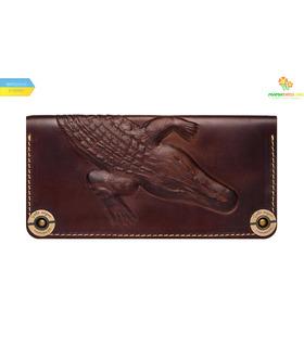 Шкіряний гаманець Alligator Brown ᐉ Україна, HandMade, натуральна шкіра