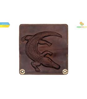 Кожаный кошелек Alligator Brown ᐉ Украина, HandMade, натуральная кожа