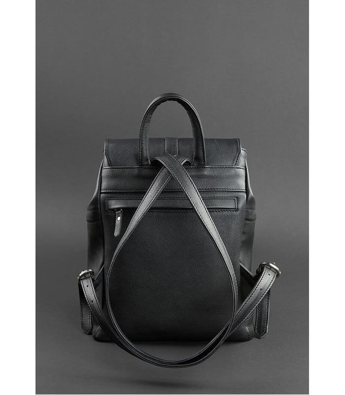 Кожаный рюкзак Олсен (Барби, Оникс).