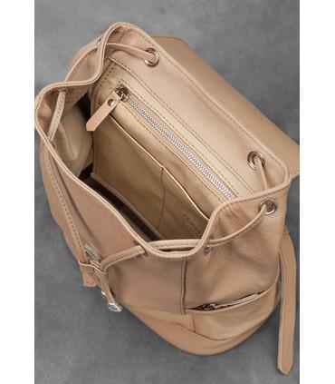 Кожаный рюкзак Олсен (Крем-брюле, Рубин).