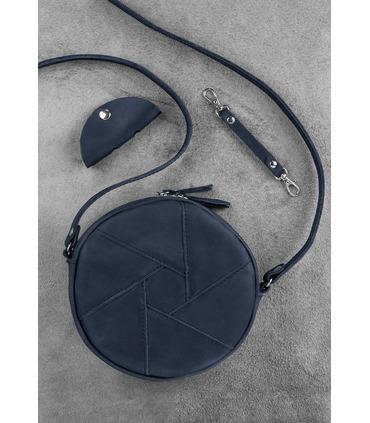 Жіноча шкіряна сумка Бон-бон BU ᐉ Нічне небо, натуральна шкіра, Україна