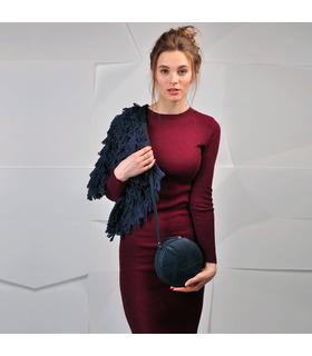 Женская кожаная сумка Бон-бон BU ᐉ Ночное небо, натуральная кожа, Украина