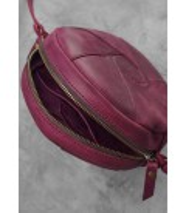 Женская кожаная сумка Бон-бон VN ᐉ Виноград, натуральная кожа, Украина