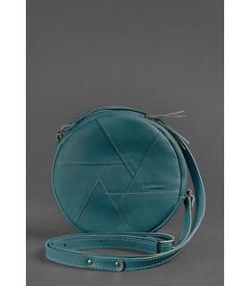 Женская кожаная сумка Бон-бон ML ᐉ Малахит, натуральная кожа, Украина