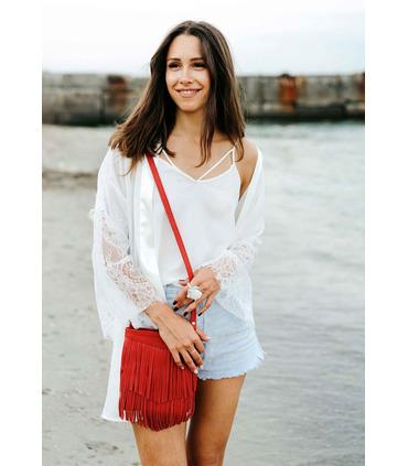 Женская сумка мини-кроссбоди Fleco RD ᐉ натуральная кожа, Украина