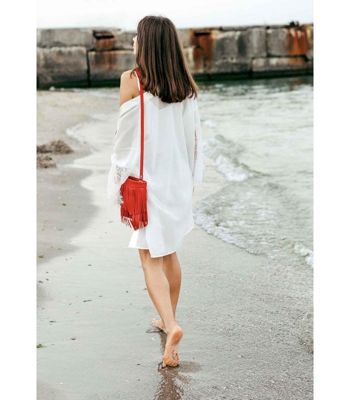 Жіноча сумка міні-кроссбоді Fleco RD ᐉ натуральна шкіра, Україна