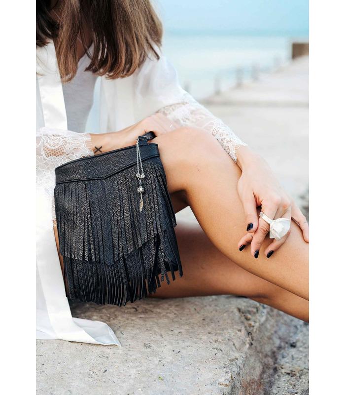 Жіноча сумка міні-кроссбоді Fleco BK ᐉ натуральна шкіра, Україна