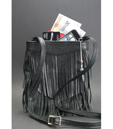 Женская сумка мини-кроссбоди Fleco BK ᐉ натуральная кожа, Украина