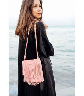 Женская сумка мини-кроссбоди Fleco RS ᐉ натуральная кожа, Украина