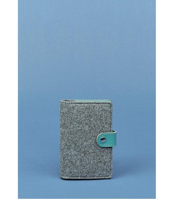 Фетровая обложка для паспорта 3.0 TF ᐉ Украина, натуральная кожа, эко-фетр