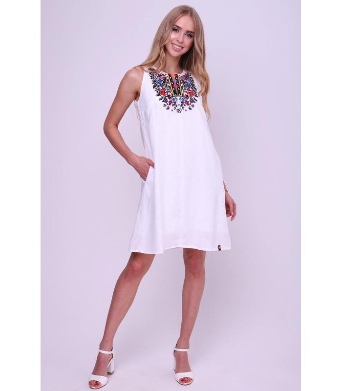 Вишита лляна сукня 017, плаття, сукні, інтернет магазин одягу