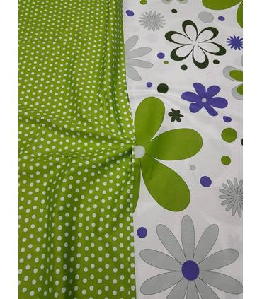 Комплект постельного белья Цветы ᗍ сатин ※ Украина, натуральная ткань