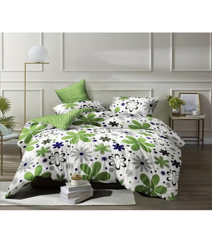 Комплект постільної білизни Квіти ᗍ сатин ※ Україна, натуральна тканина