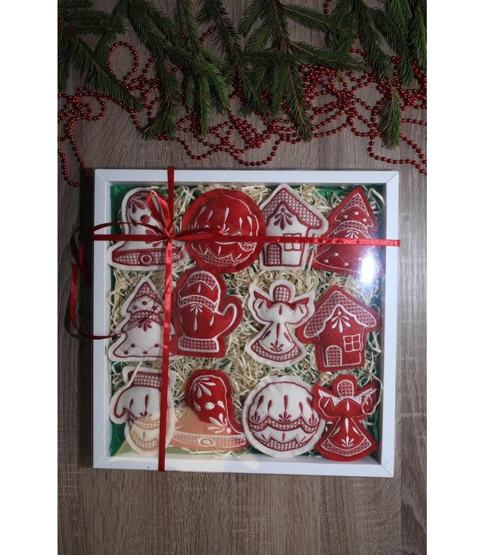 Набор елочных игрушек Рождественский большой