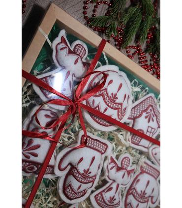 Набор елочных игрушек Рождественский большой MI