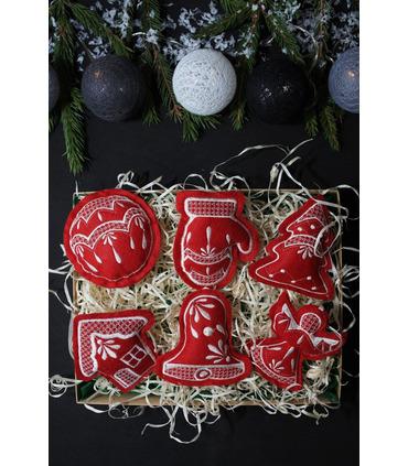Набор елочных игрушек Рождественский BR-1