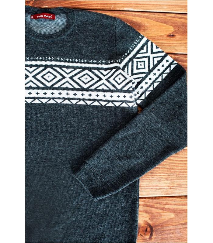 Мужской вязаный свитер мод.61