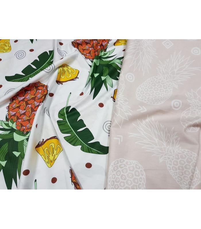Комплект постельного белья Ананас ᗍ сатин ※ Украина, натуральная ткань