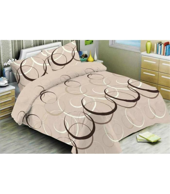 Комплект постельного белья Лофт беж ᗍ бязь, Украина, натуральная ткань