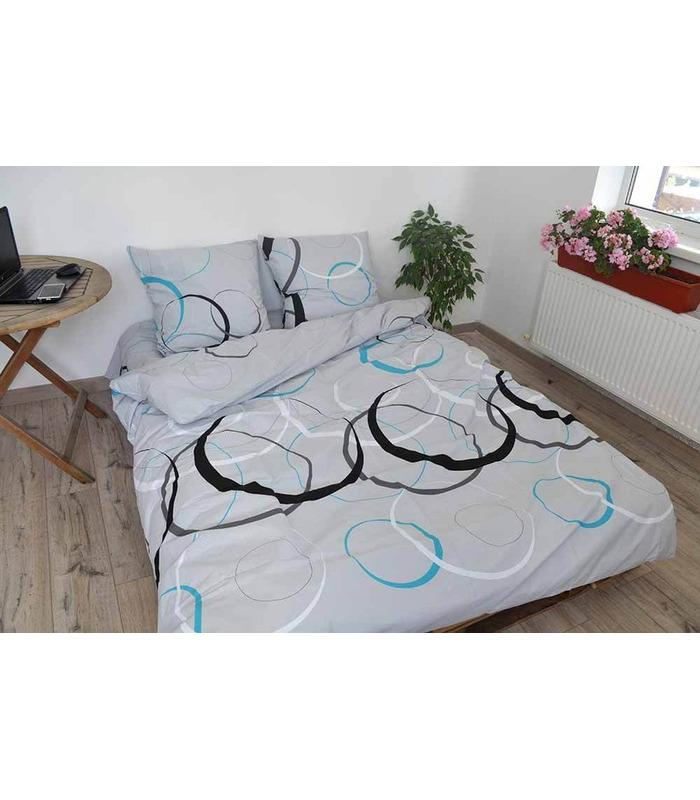 Комплект постельного белья Лофт серый ᗍ бязь, Украина, натуральная ткань