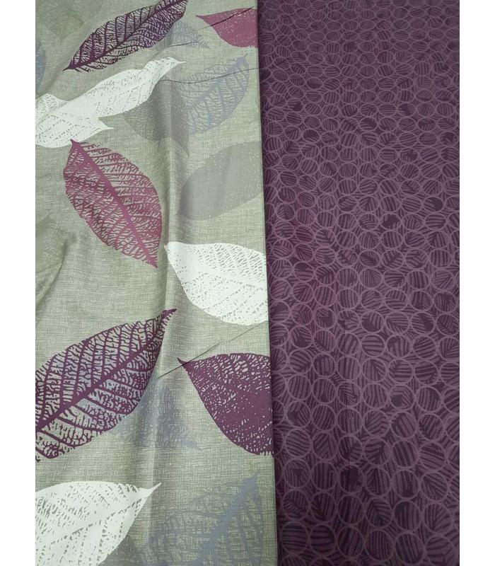 Комплект постельного белья Листопад ᗍ сатин ※ Украина, натуральная ткань