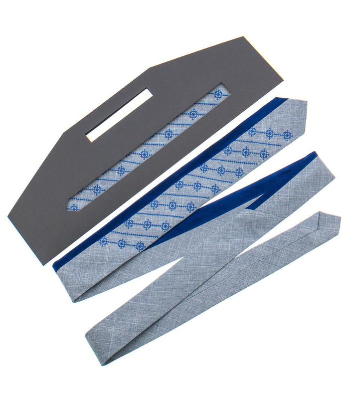 Краватка ᐉ Вишита краватка сірого кольору 815, костюмна тканина ※ Україна