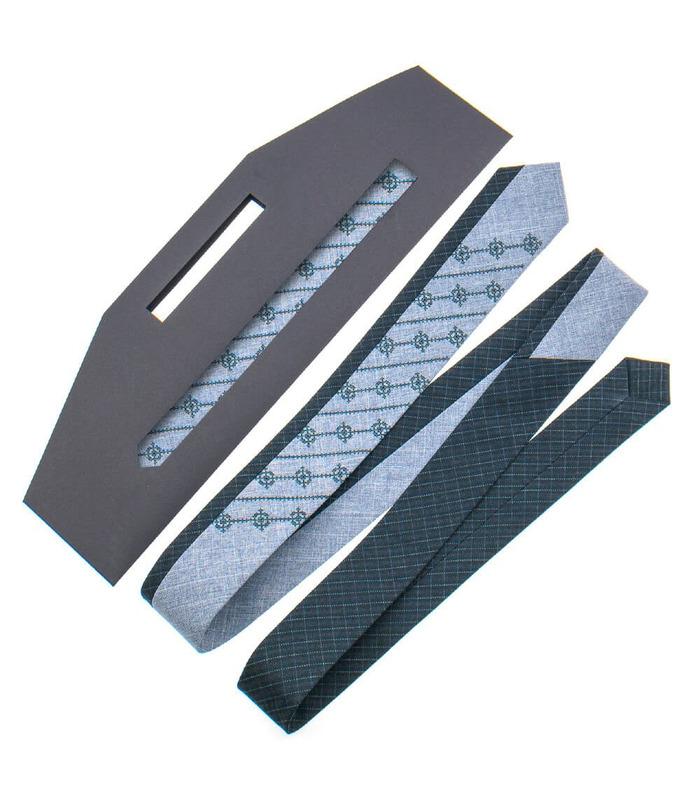 Краватка ᐉ Вишита краватка сірого кольору 841, костюмна тканина ※ Україна