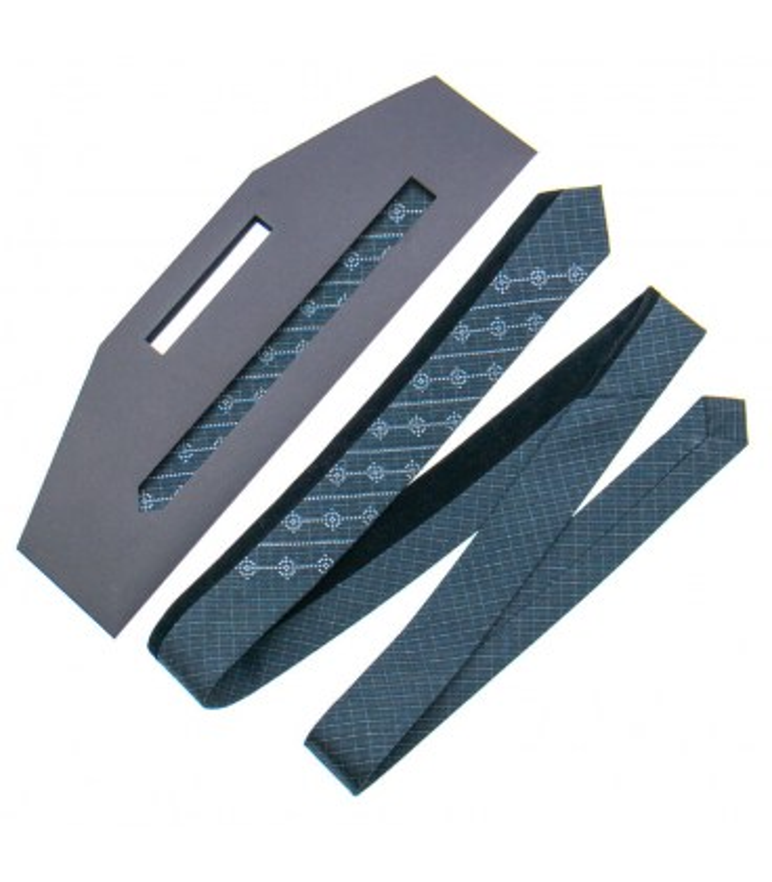 Краватка ᐉ Вишита краватка темно-сірого кольору 842, костюмна тканина ※ Україна