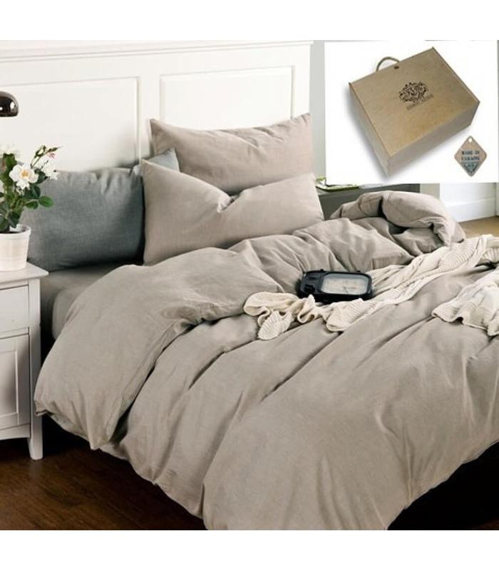 Комплект постельного белья Бриллиантовый туман ᗍ Лен ※ Украина, натуральная ткань