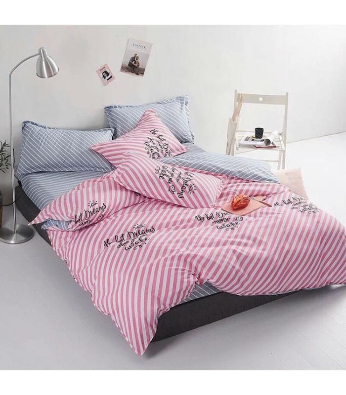 Комплект постільної білизни Prestige Pink ᗍ бязь, Україна, натуральна тканина