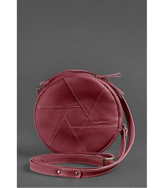Женская кожаная сумка Бон-бон ᐉ Виноград, натуральная кожа, BlankNote