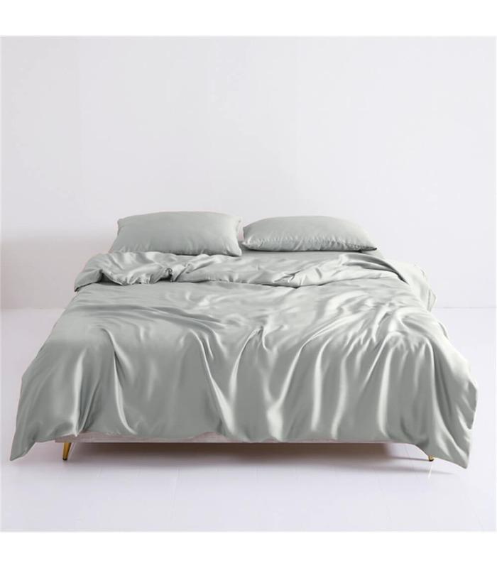 Комплект постельного белья Mono №9 ᗍ однотонный сатин, натуральная ткань