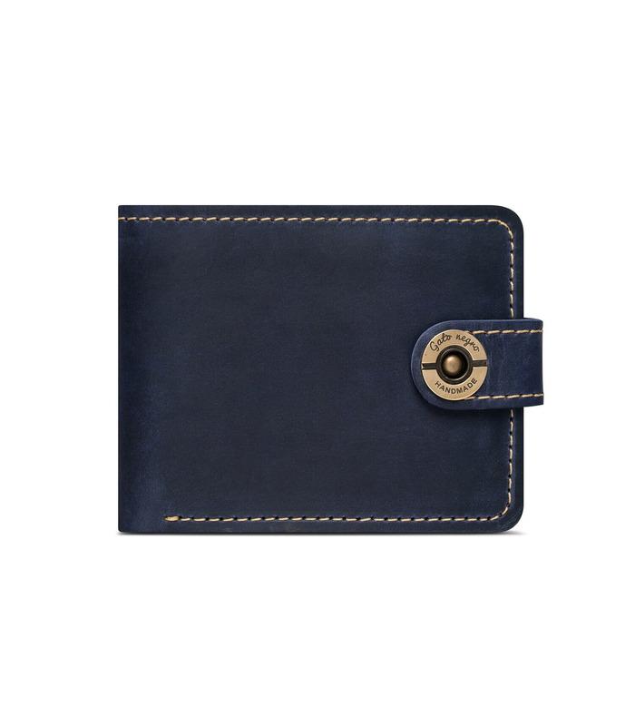 Купити шкіряний чоловічий гаманець GN Classic+ BU   Українське виробництво, натуральна шкіра