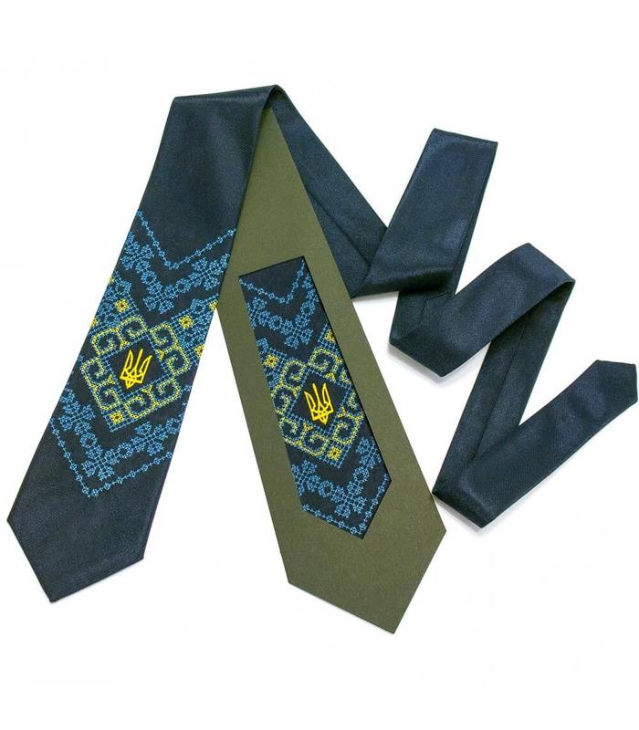 Вышитый галстук с трезубом Мирослав