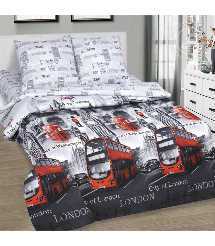 """Комплект постельного белья """"Greenwich"""" ᐉ качественный поплин, доступная цена ※ Украина"""