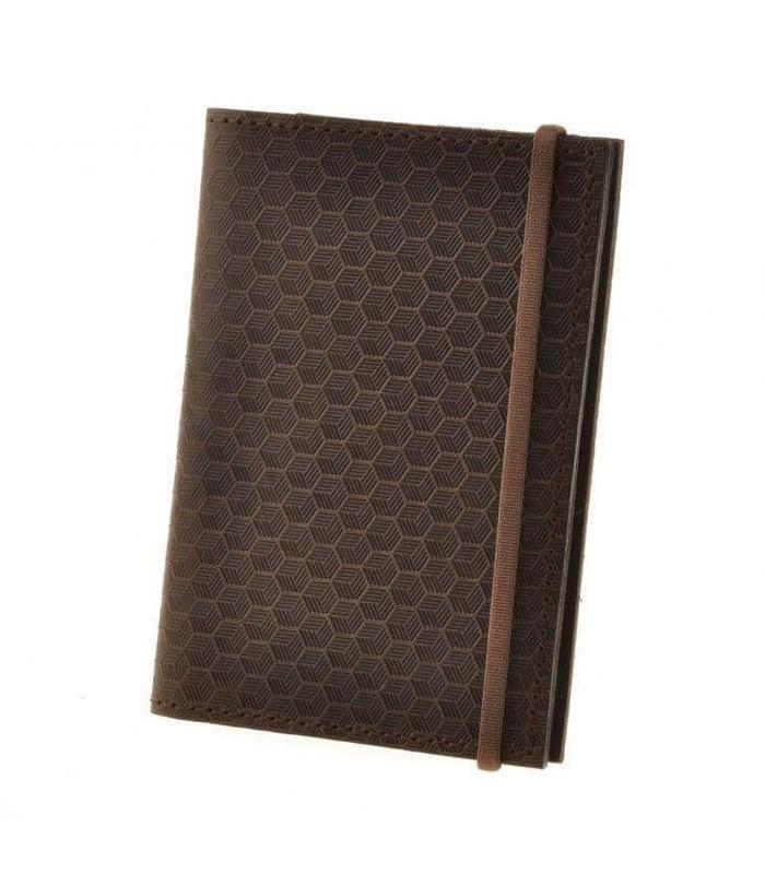 Кожаная обложка для паспорта 2.0 Карбон Орех DB ᐉ Украина, натуральная кожа
