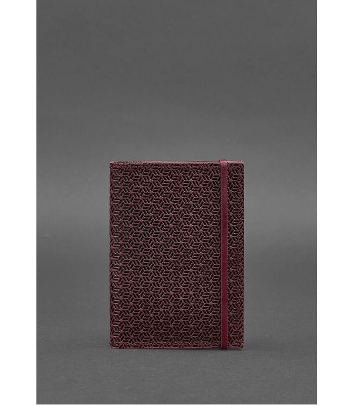 Шкіряна обкладинка для паспорту 2.0 Карбон Виноград BR ᐉ Україна, натуральна шкіра
